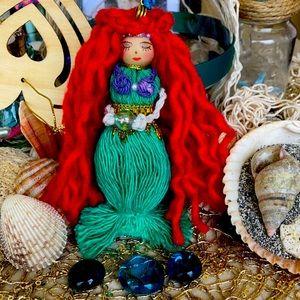 Mermaid 🧜♀️ macrame Hanger Doll Handmade ♥️🐚